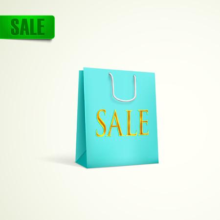 unprinted: azul concepto de compras venta bolsa Vectores