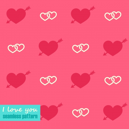 seamless pattern with hearts Stock Vector - 23014825
