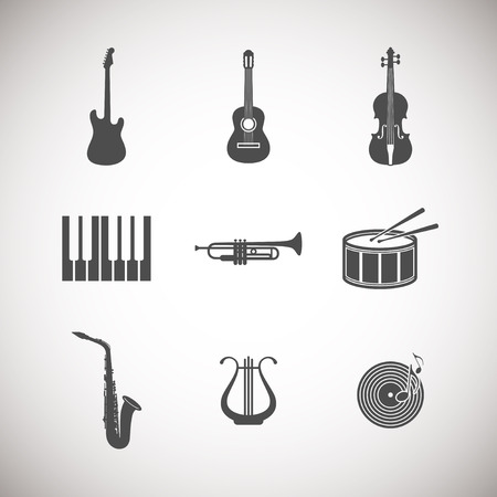 harp: set of musical instrument icons