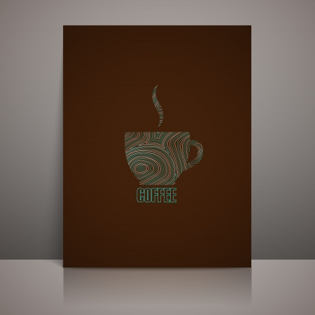 menu design with coffee sign Vector