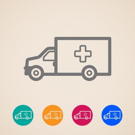 ambulance car: Ambulance car icons