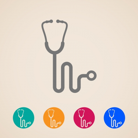 check up: Stethoscope icons  Illustration