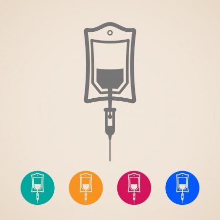 Bolsa de iconos de sangre Ilustración de vector