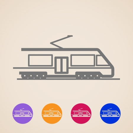 intercity: Train icons Illustration
