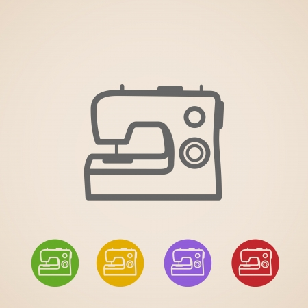 sewing machine: Sewing machine icons
