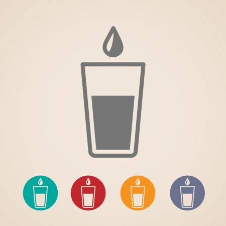 clean water: Glass of water icons