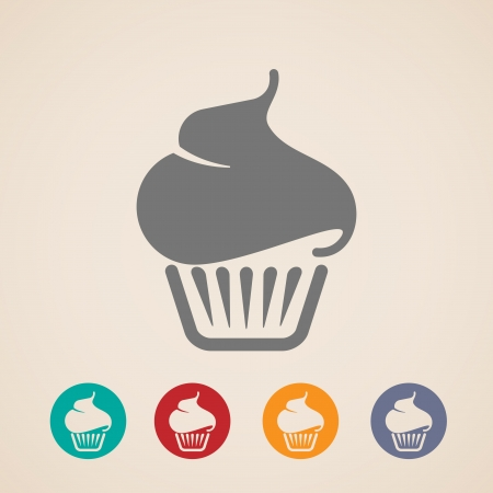 cupcakes isolated: Cupcake icons Illustration