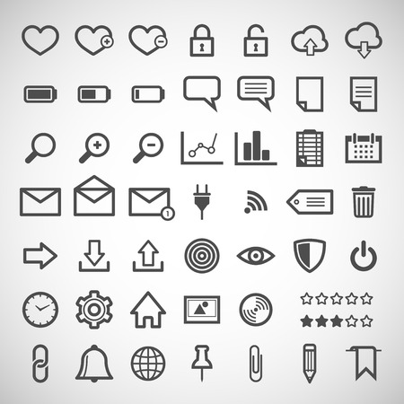 cloud search: set of web icons