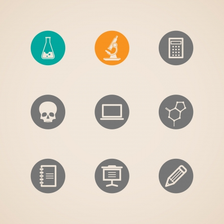 set of education and science icons  Vector