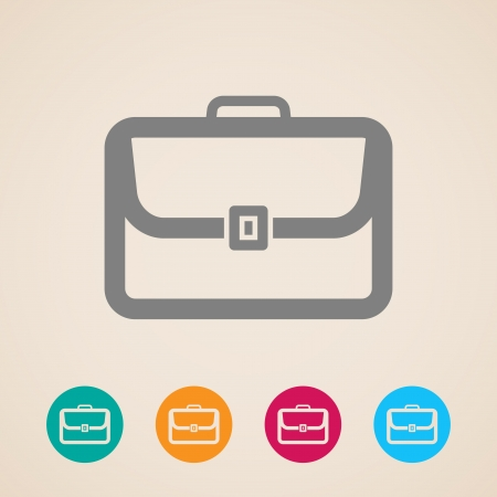 business briefcase: briefcase icon