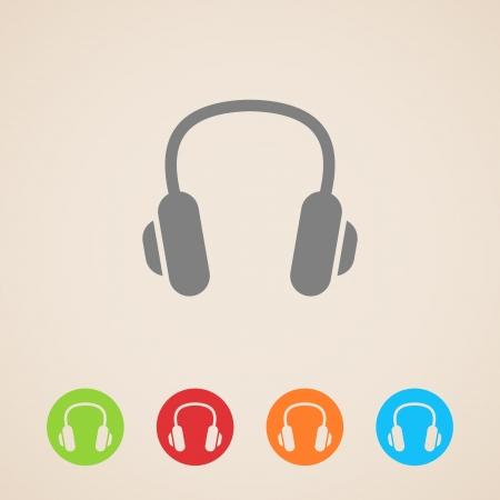 audifonos: Auriculares iconos Vectores
