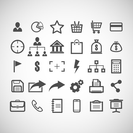 brief: set of web icons