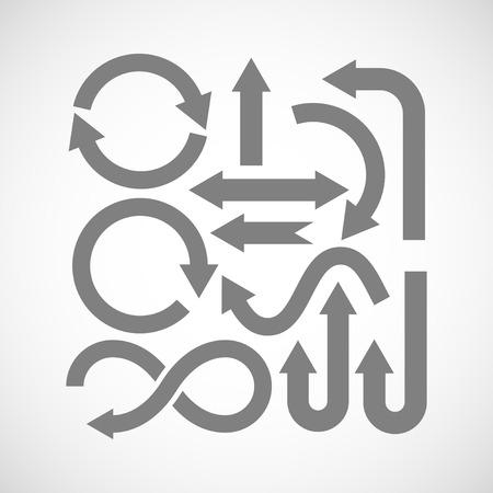 arco y flecha: conjunto de iconos de flecha