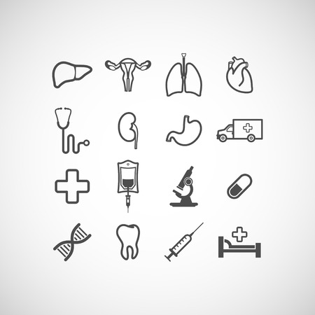 transfuse: set of medical icons