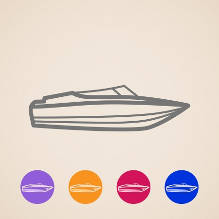 power boat: Yacht icons