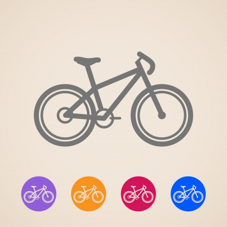 road safety: Bike icons