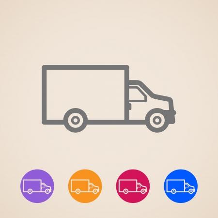 icônes de camions de livraison
