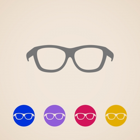 Glasses icons Stock Vector - 23337015