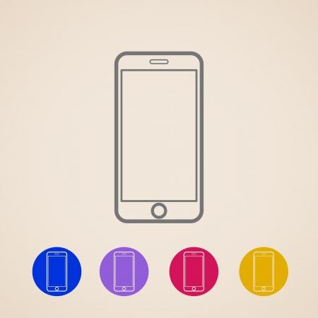 Mobile phone icons Stock Vector - 23337031