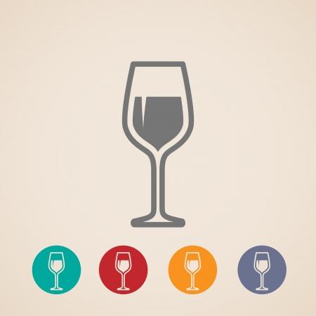 Wineglass icons Illustration