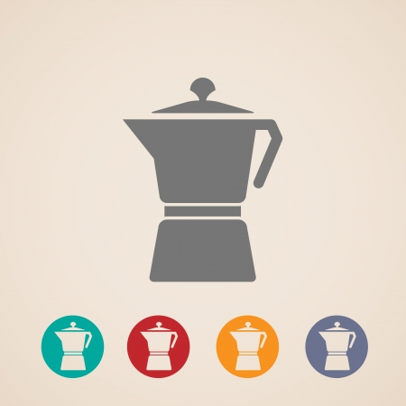 sign maker: Coffee pot icons