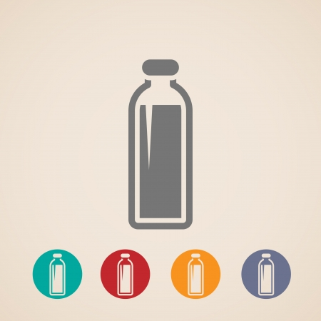 milkman: Bottle of milk or another beverage icons