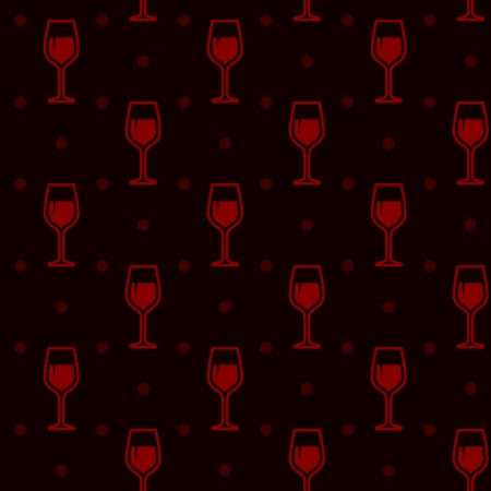 seamless wineglasses Vector
