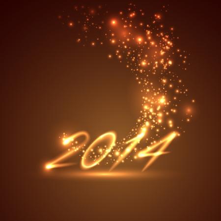 happy new year 2014  holiday  Illustration