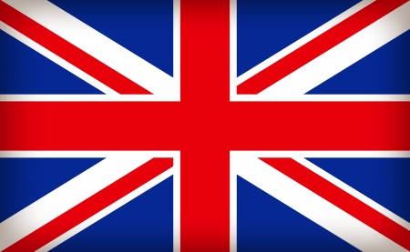 european union: british union jack flag