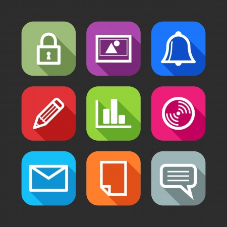 back up: flat icons for web and mobile applications  flat design with long shadows