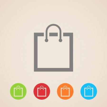 e shopping: shopping bag icon