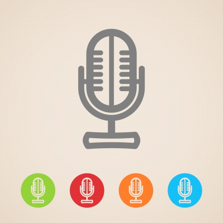 input device: Microphone icons  Illustration