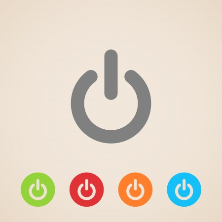 power off: Power icons Illustration