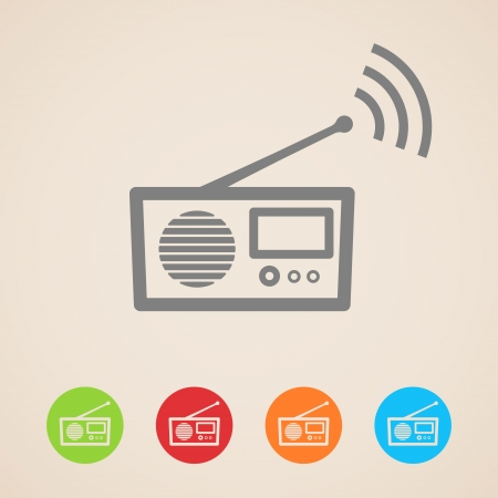 radio wave: Radio icons Illustration