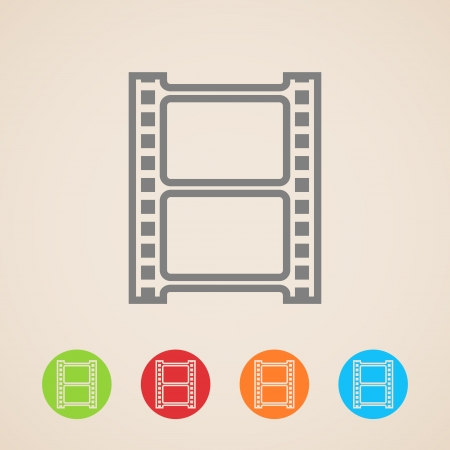film tape: Film strip icons