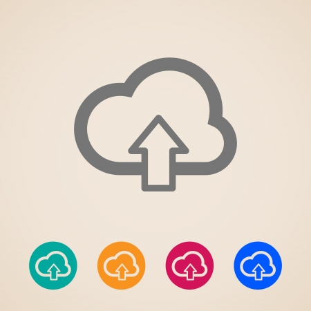 cloud with download arrow icons Stock Vector - 23362255