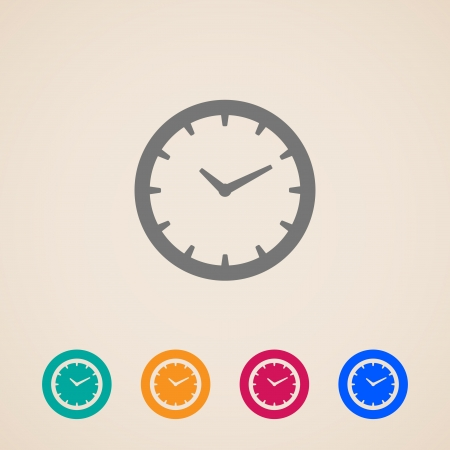 time clock: Clock icon Illustration