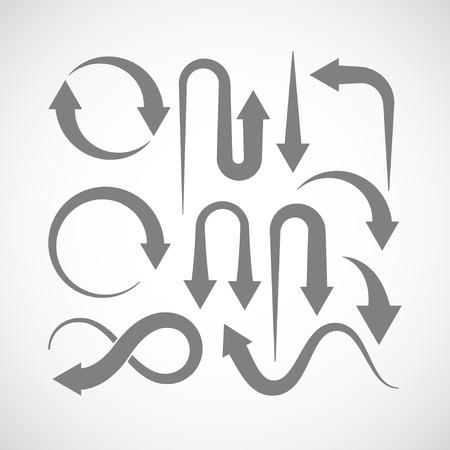 flechas: conjunto de iconos de flecha