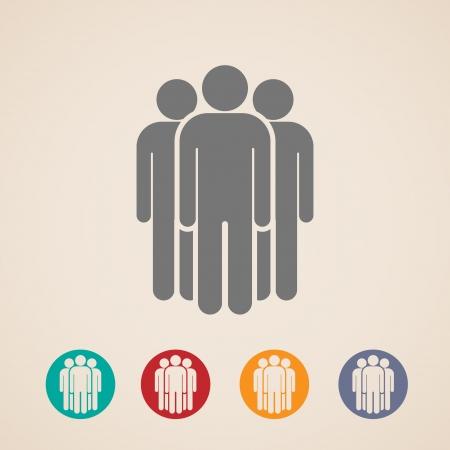 corporate hierarchy: progettazione del layout per le icone di persone di gruppo
