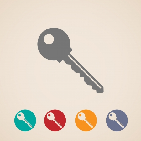 design layout of key icons Vector