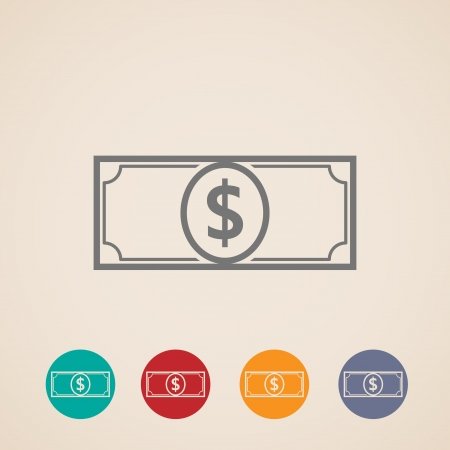 one dollar bill: design layout of money icons