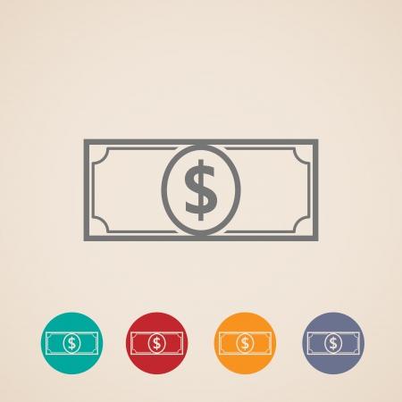 letra de cambio: disposición de diseño de iconos de dinero