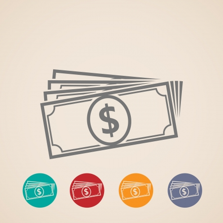 greenbacks: design layout of money stack icons Illustration
