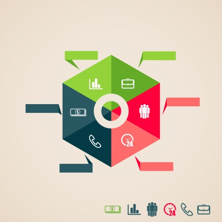 design layout of info graphic elements for web and print usage