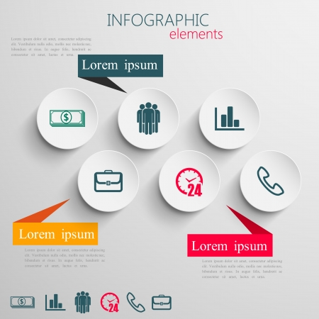 design layout of abstract 3d paper info graphic elements for print or web design  business info graphic template  Vector