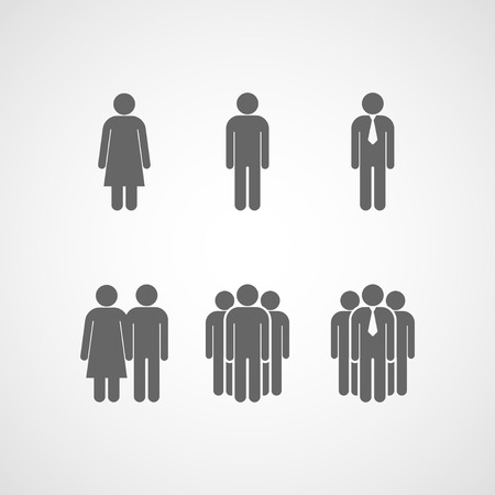design layout of icons with people signs Vector