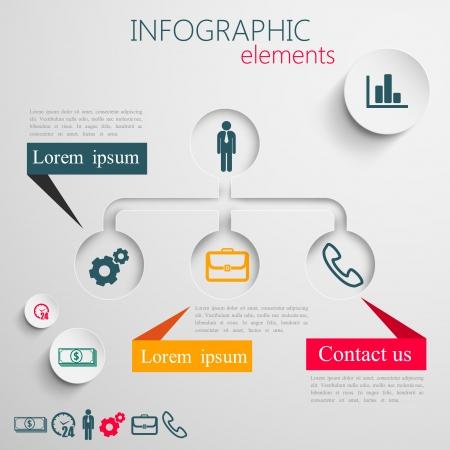 jerarquia: disposición de diseño de información del papel de elementos gráficos 3d abstractos para impresión o web Información empresarial plantilla de diseño gráfico