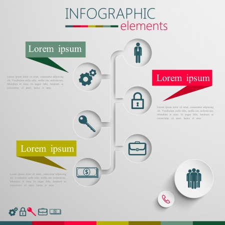 out of production: design layout of abstract 3d paper info graphic elements for print or web design  business info graphic template  Illustration