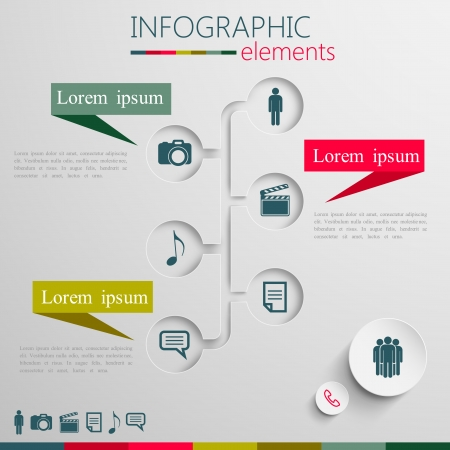 web camera: design layout of abstract 3d paper info graphic elements for print or web design