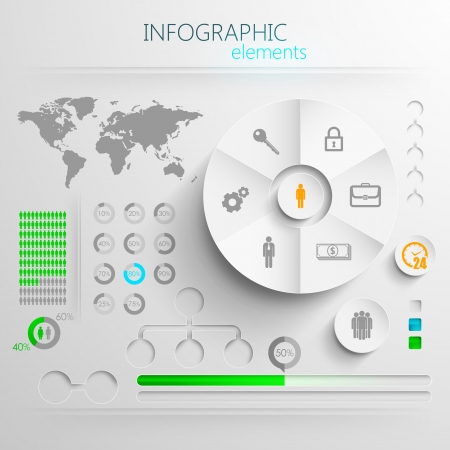 design layout of abstract 3d paper info graphic elements for print or web design  Vector